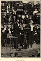 Andrew Carnegie on stage at the National Arbitration and Peace Congress, 1907