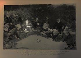 Andrew Carnegie on a honeymoon picnic, 1887