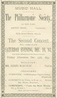 Carnegie Hall program advertisement for the world premiere performance of Dvořák's Symphony No. 9 in E Minor, Op. 95