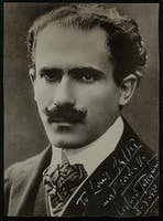 Photo of conductor Arturo Toscanini inscribed to Carnegie Hall house manager Louis Salter, March 18, 1921