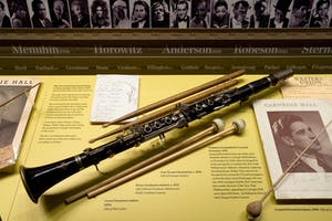 Benny Goodman's clarinet on display in the Rose Museum at Carnegie Hall