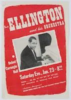 Flyer for Duke Ellington's Carnegie Hall debut, 1943