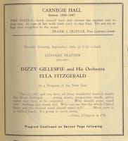 Program from Ella Fitzgerald's Carnegie Hall debut, 1947