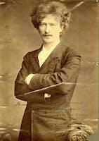 Photo of Ignacy Paderewski inscribed to conductor Walter Damrosch, 1892