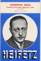 Flyer for Jascha Heifetz concert at Carnegie Hall, April 21, 1936