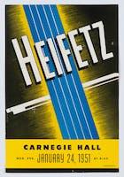 Flyer for Jascha Heifetz concert at Carnegie Hall, January 24, 1951