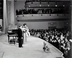 Marian Anderson with pianist Franz Rupp after her final Carnegie Hall recital, 1965