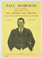Flyer for Paul Robeson's Carnegie Hall debut, 1929