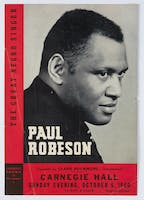 Program for Paul Robeson's Carnegie Hall performance, 1940