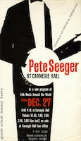 Flyer advertising a concert by Pete Seeger and Sonny Terry, December 27, 1958