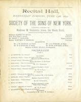Sissieretta Jones recital program, 1892