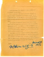 Letter from Vladimir Horowitz in support of saving Carnegie Hall, 1960