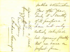 Page 2 of a letter from Andrew Carnegie congratulating Tuthill