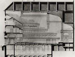 Section drawing of Carnegie Hall, 1890