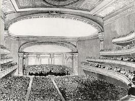 Carnegie Hall on its Opening Night, May 5, 1891