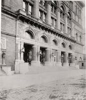 Carnegie Hall front stairs, 1891