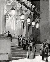 Entrance of Carnegie Hall, 1891