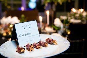 Hors d'oeuvres of steak frites with tarragon mustard aioli by Constellation Culinary Group