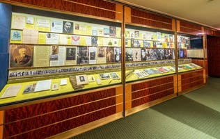 A permanent exhibit in the Rose Museum that details past artists who have performed at Carnegie Hall