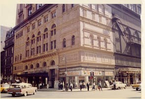 Carnegie Hall in 1960. Courtesy of the Carnegie Hall Archives.