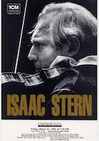 Flyer for Isaac Stern's recital with pianist Robert McDonald in 1997—the same year that the main auditorium was named in his honor. Courtesy of the Carnegie Hall Archives.