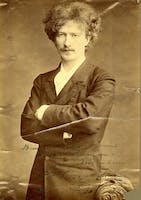 Portrait of Paderewski, autographed and dedicated to Walter Damrosch. Courtesy of the Carnegie Hall Archives.