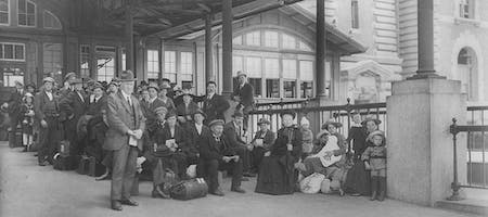 Awaiting examination, Ellis Island.