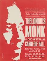 Thelonius Monk 1964 flyer.