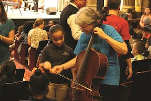 Link Up student with a member of the Rhode Island Philharmonic Orchestra