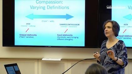 A presenter shares a slide presentation