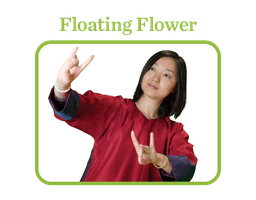 Floating Flower: a woman floating her hands in the air