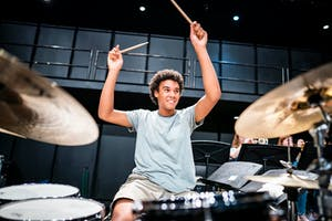 NYO Jazz drummer Anton Kot