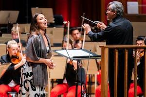 Isabel Leonard performing with NYO-USA at Tanglewood