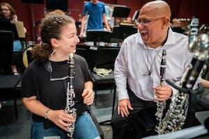 NYO-USA clarinetist Anoush Pogossian with Ricardo Morales