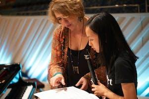 NYO2 clarinetist Joanna Lin with Gabriela Montero