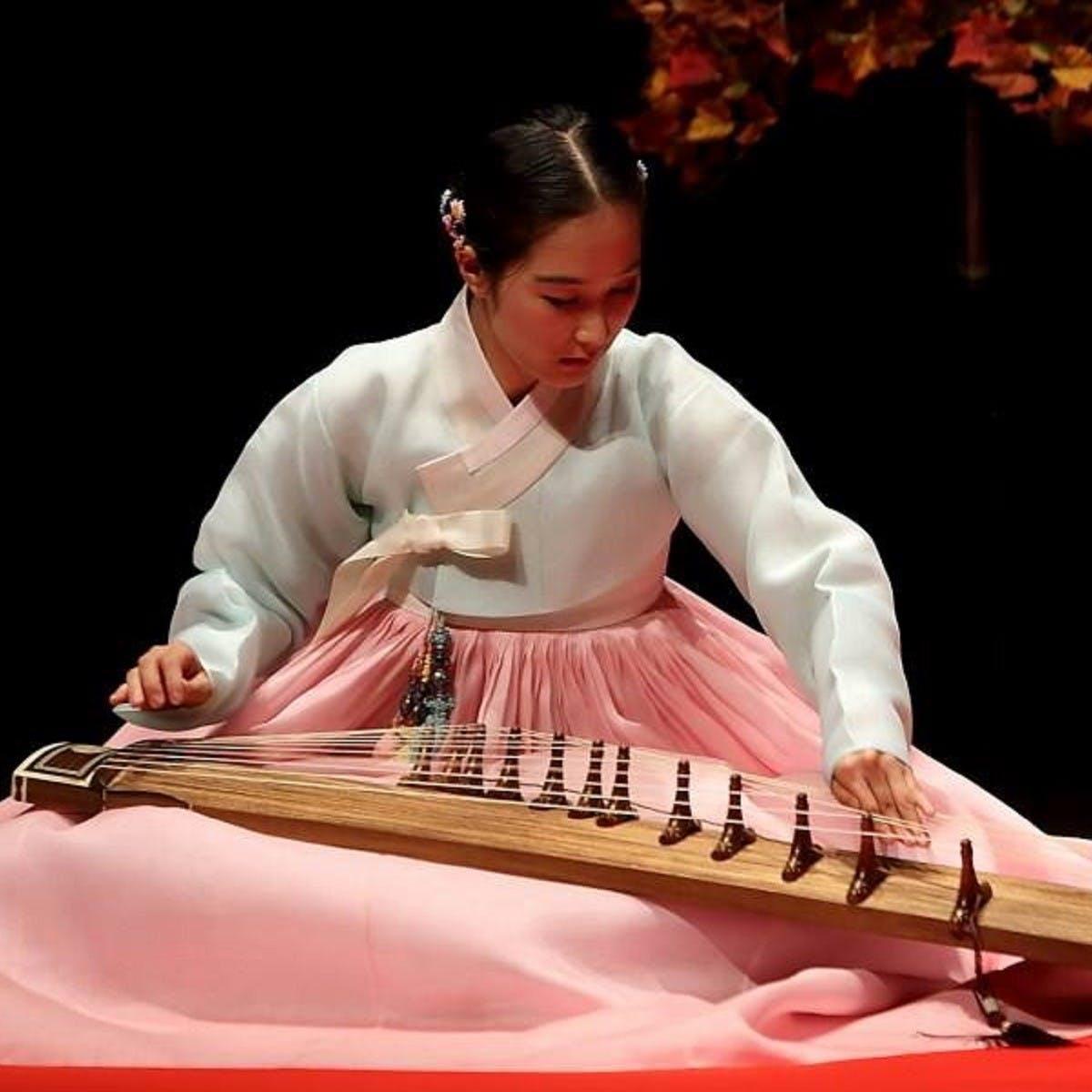 Terra Han plays Korean gayageum in the Carnegie Hall