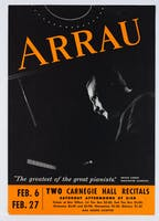 Flyer for Claudio Arrau's recitals in 1960