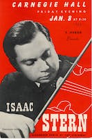 Flyer for Isaac Stern's Carnegie Hall debut, January 8, 1943