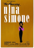 Poster for Nina Simone's headlining debut at Carnegie Hall on April 12, 1963