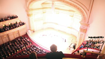 Carnegie Hall's Stern Auditorium / Perelman Stage as seen from the Balcony