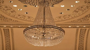 The crystal chandelier in Carnegie Hall's Weill Recital Hall