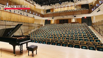 View of Zankel Hall from the stage