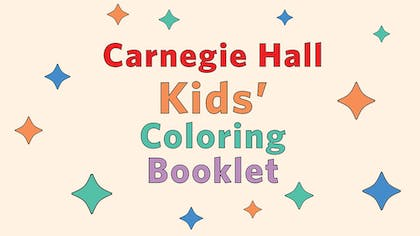 Carnegie Hall Kids' Coloring Booklet