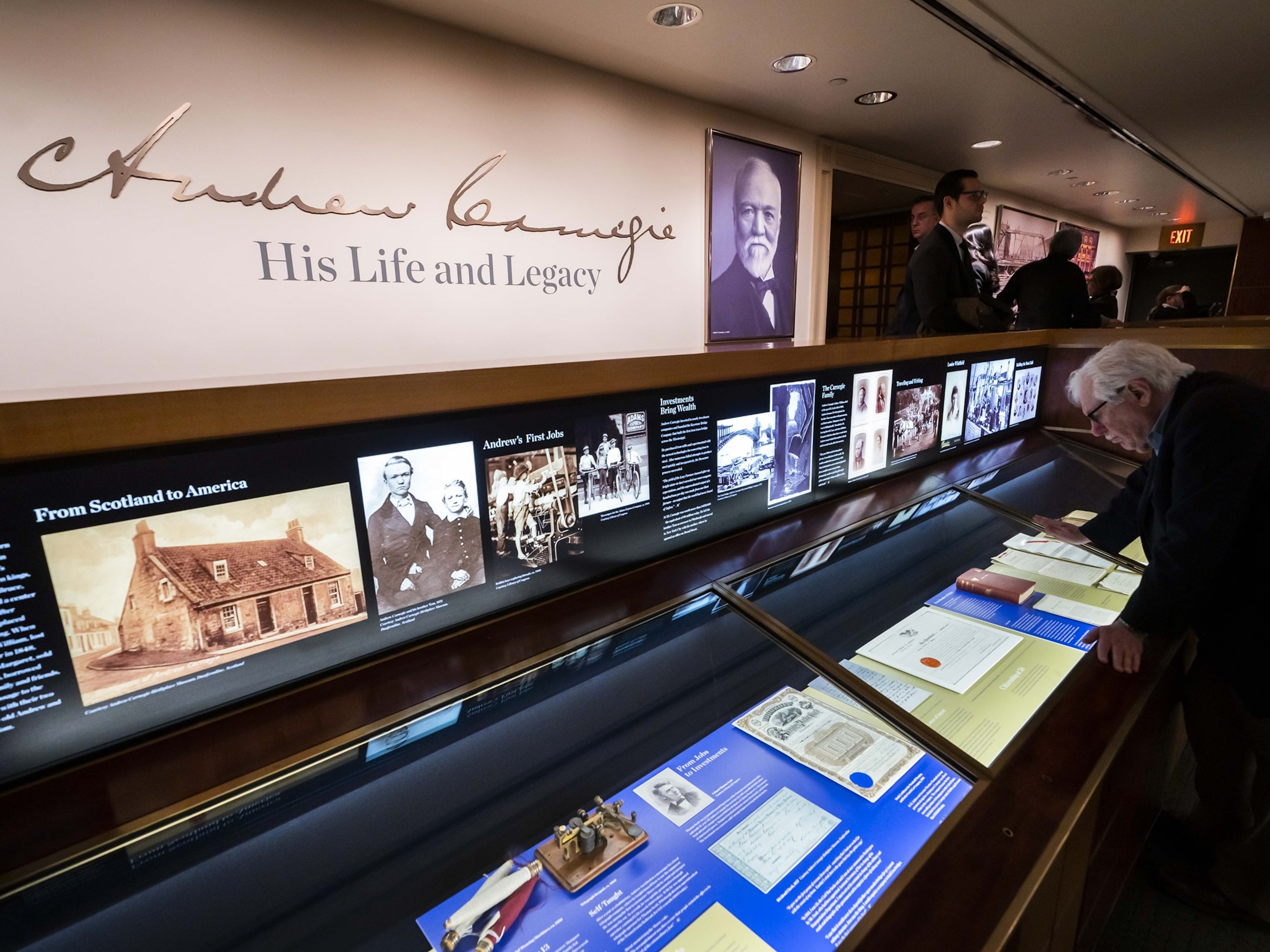 An exhibit detailing Andrew Carnegie's life will come to Carnegie Hall's Rose Museum