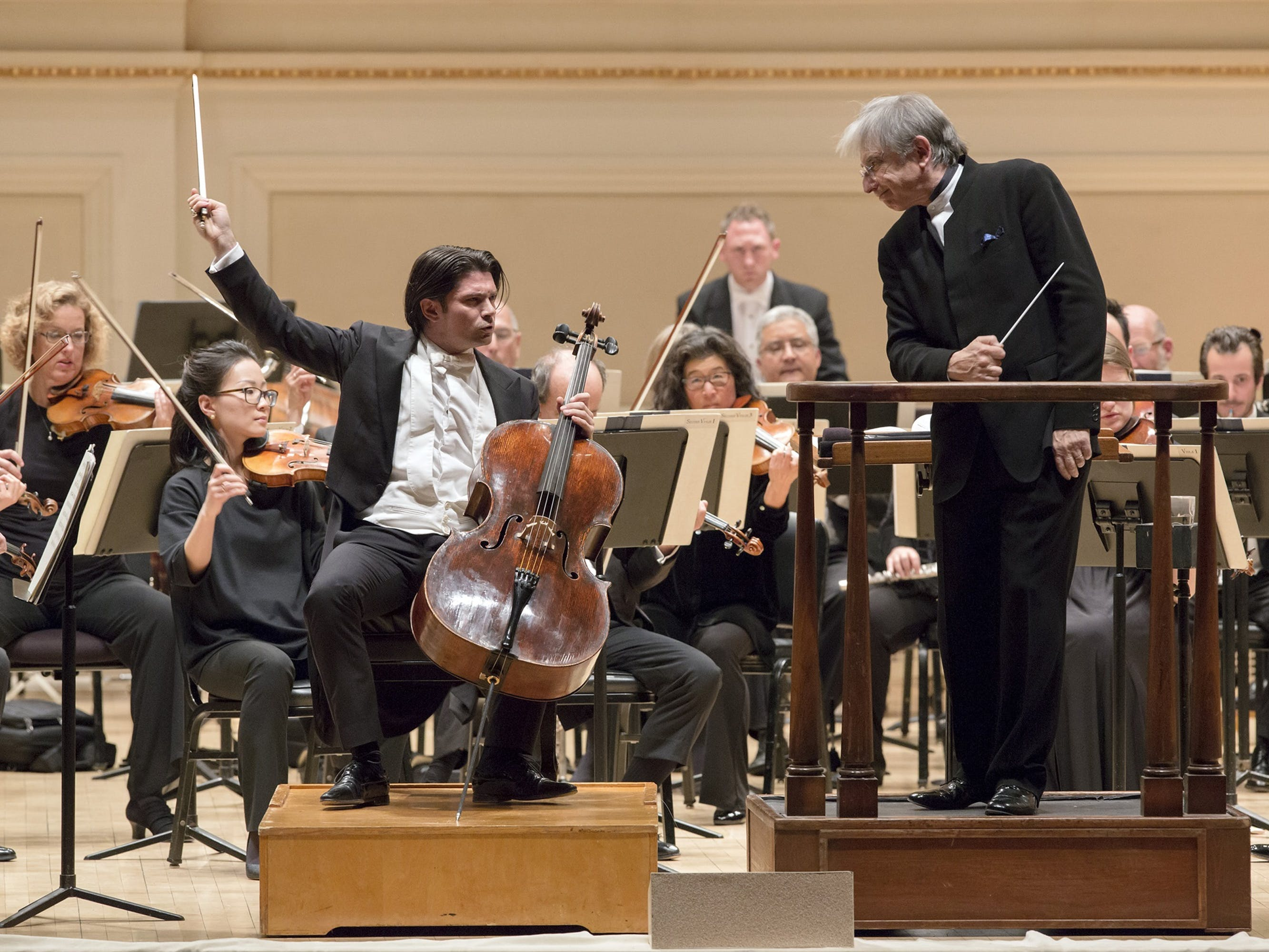 Gautier Capuçon and Michael Tilson Thomas with the San Francisco Symphony, April 2017