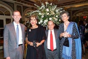 Douglas Elmendorf, Shahla and Hushang Ansary, and Barbara Jimenez by Julie Skarratt