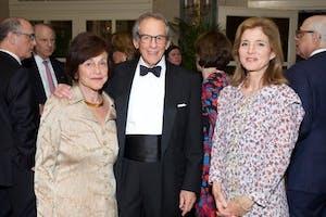 Ina and Robert A. Caro, and Ambassador Caroline Kennedy by Julie Skarratt