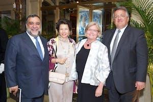 Ruben Vardanyan, Veronika Zonabend, and Anna and Noubar Afeyan by Julie Skarratt