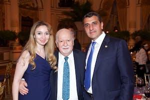Narine Nersesyan, Vartan Gregorian, and Ambassador Varuzhan Nersesyan by Julie Skarratt
