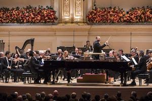 Maestro Yannick Nézet-Séguin leading The Philadelphia Orchestra, Lang Lang, Chick Corea, and Maxim Lando